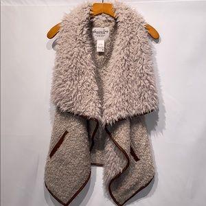 American Rag Faux Fur Drape Vest